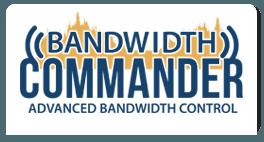bandwidth commander logo blue yellow