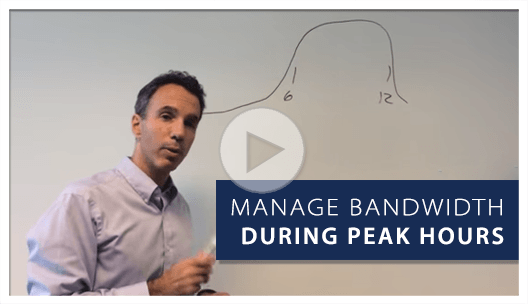 How to manage bandwidth during peak hours