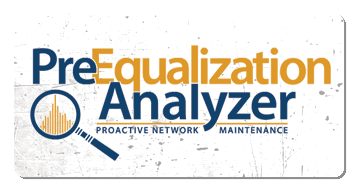 preequalization analyzer logo grunge