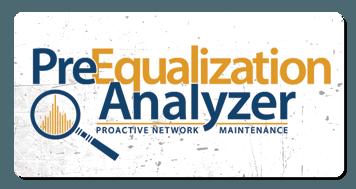 preequalization analyzer logo grunge