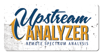 upstream analyzer logo grunge