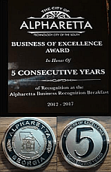 2017 business of excellence five year award