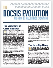 docsis evolution white paper main