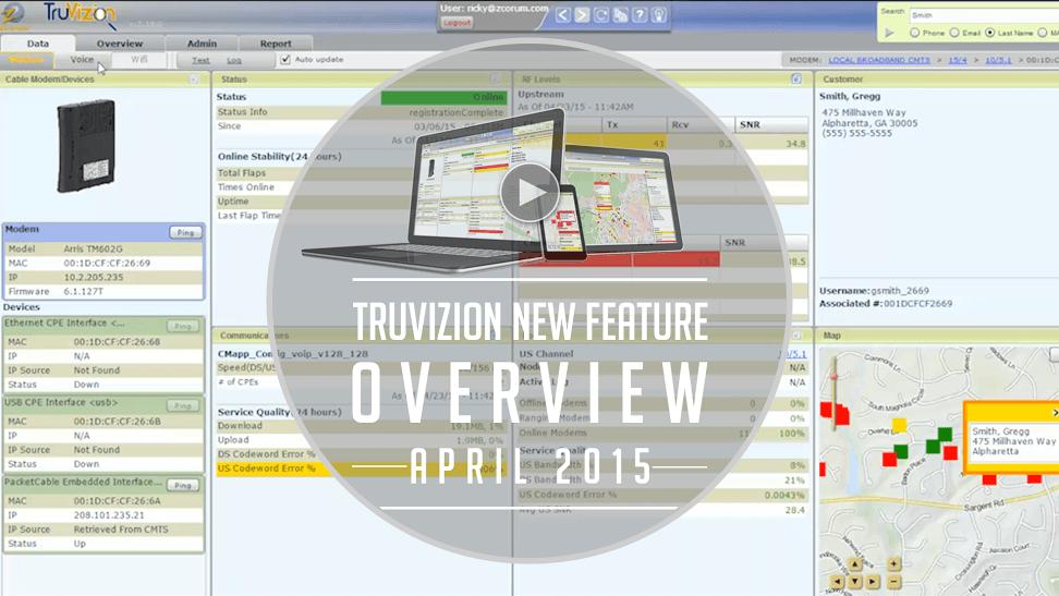 TruVizion Broadband Diagnostics New Features - April 2015