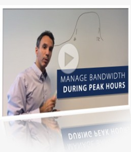 Manage bandwidth during peak hours