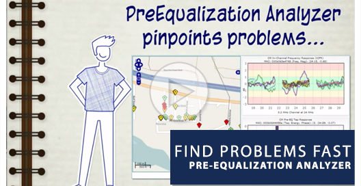 preequalization analyzer find problems play button main