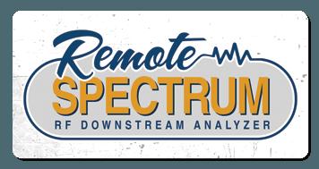 remote spectrum logo grunge