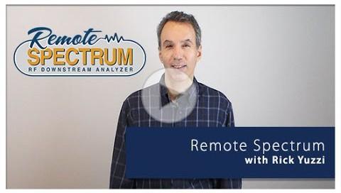 remote spectrum downstream analyzer video play button