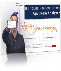 ingress in cable plant upstream analyzer rick reflect
