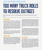 reduce truck rolls outage resolution case study