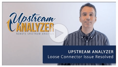loose connector issue resolved upstream analyzer