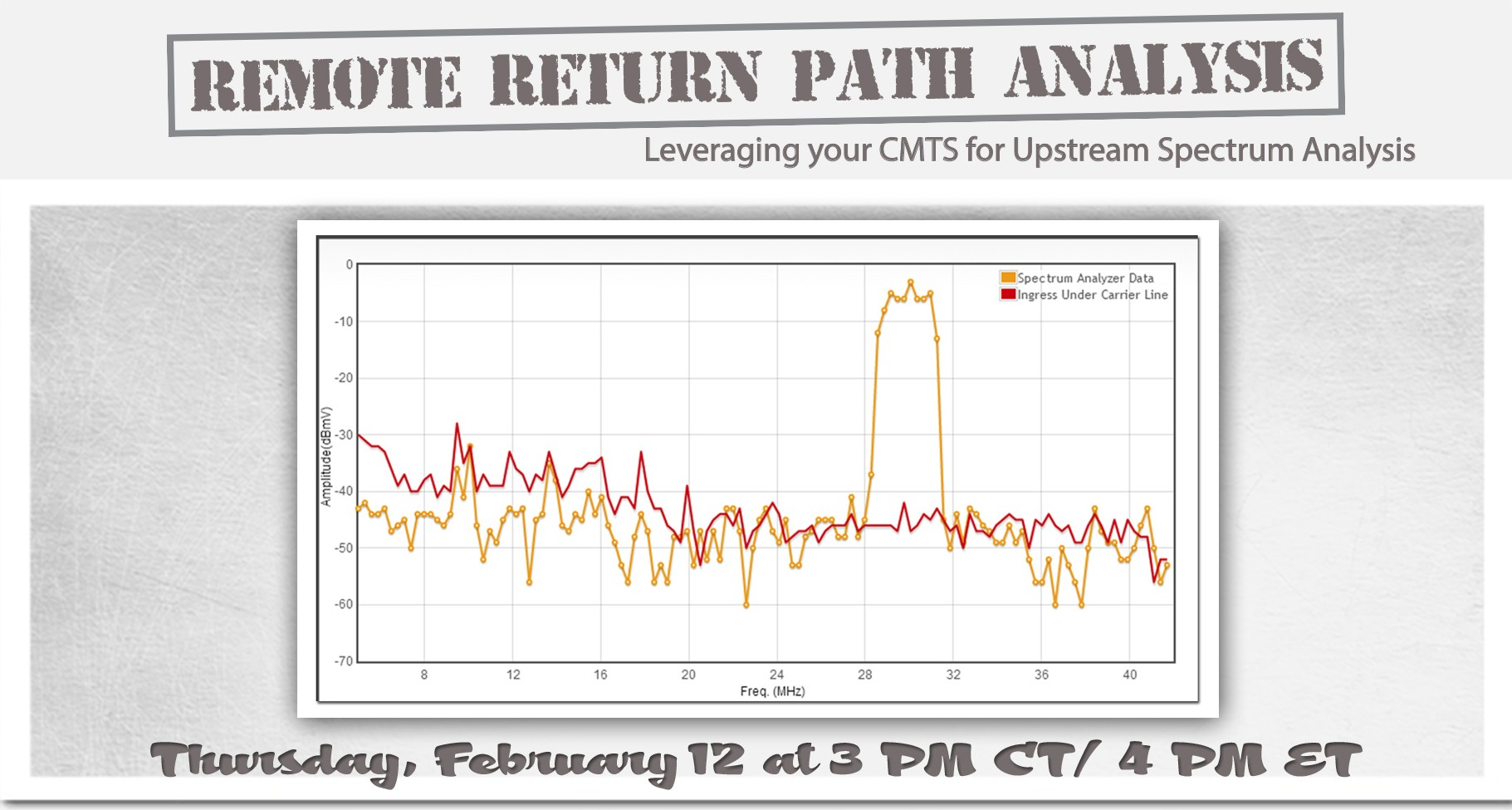 upstream spectrum analyzer webinar date