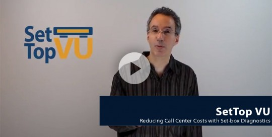 reducing call center costs set top box diagnostics