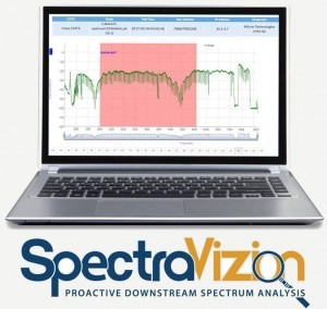 spectravizion proactive downstream spectrum analysis laptop screen