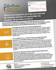 Upstream Analyzer Spanish Product Sheet Thumbnail Tilted